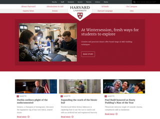 harvard.edu Screenshot