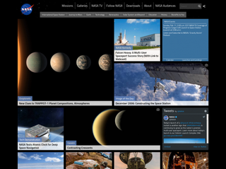 nasa.gov Screenshot